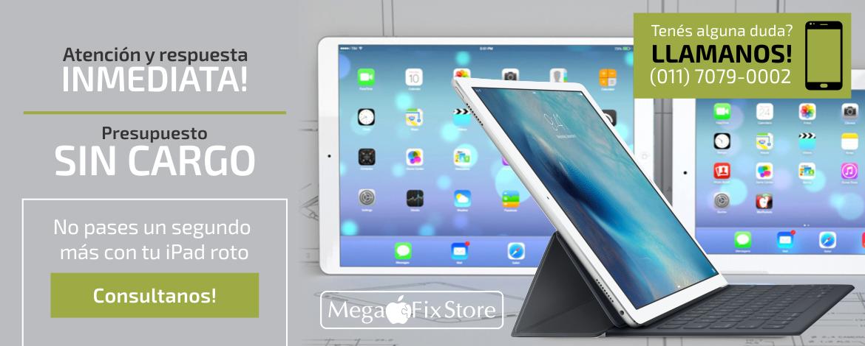 6e85d9371cb Somos la mejor opción a la hora de resolver cualquier problema con tu iPad.  MegaFixStore Servicio Técnico Apple Premium